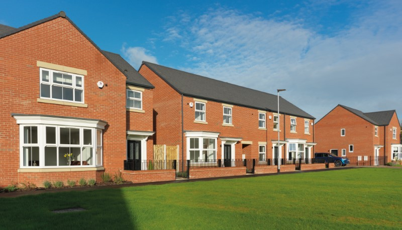 Bridge Homes development at St Swithins, Stanley