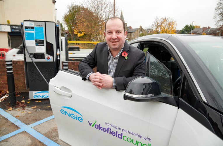 Cllr Morley EV chargepoint