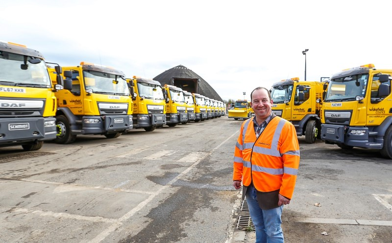 Cllr Morley welcomes fleet of new gritters