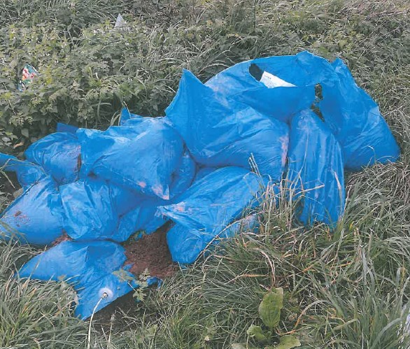 Fly-tipped items dumped at playing fields in Hemsworth