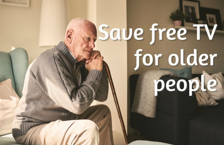 Save free TV for older people