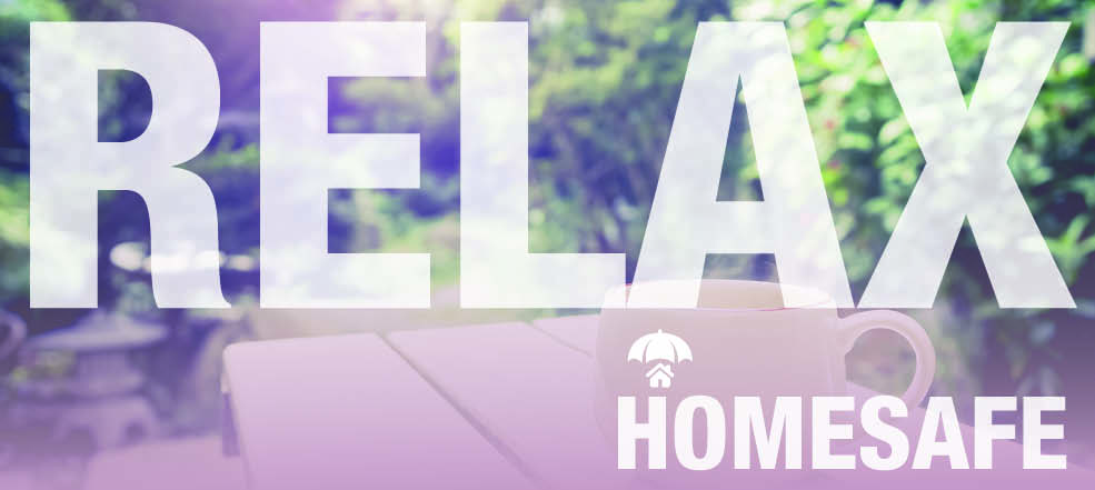 relax - homesafe web banner