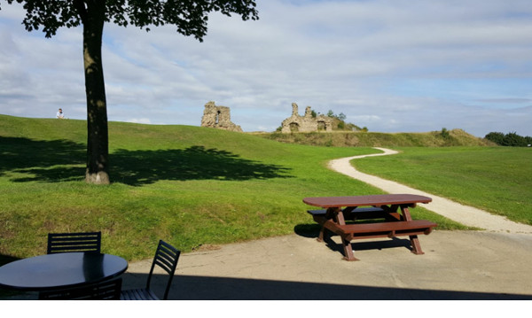 The view from Sandal Castle cafe