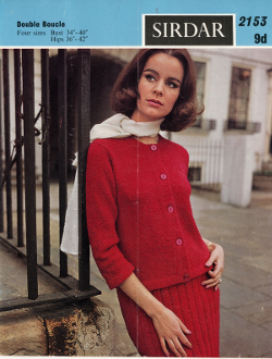 1960s Sirdar knitting pattern