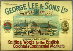 Late 19th century poster for George Lee and Sons. Ltd. of Wakefield