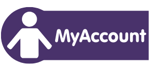 MyAccount purple image that links to my account